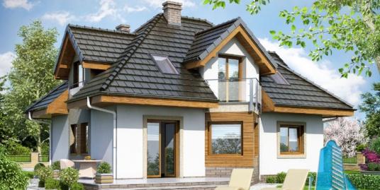 Proiect de casa cu parter si mansarda -100653