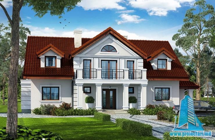 Proiect de casa cu parter, mansarda si demisol -100704
