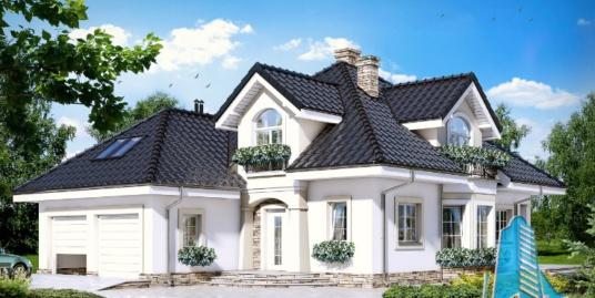 Proiect de Casa cu parter, mansarda si garaj pentru doua automobile – 100708