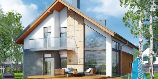 Proiect de casa cu parter, mansarda si garaj pentru un automobil-100706