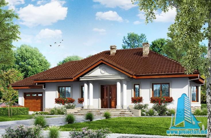 Proiect de casa cu parter si garaj pentru un automobil-100684