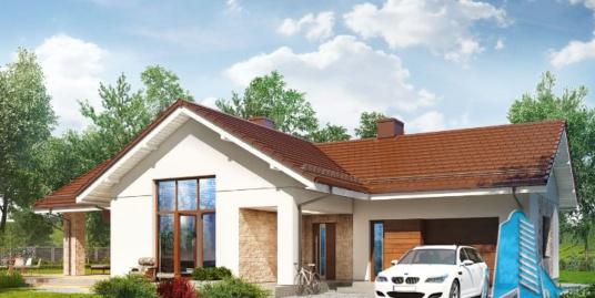 Proiect de casa cu parter si garaj pentru un automobil-100667