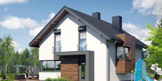 Proiect de casa cu parter si mansarda -100688