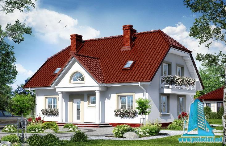 Proiect de casa cu parter si mansarda -100686