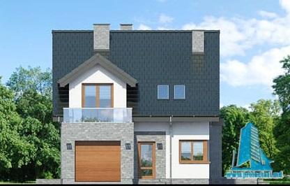 fatada-1 Proiect de casa cu parter, mansarda