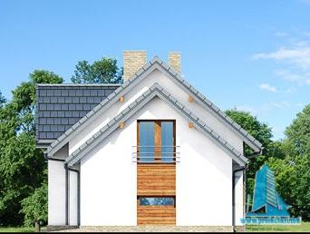 fatada-2 Proiect de casa cu parter, mansarda si garaj pentru un automobil-100626