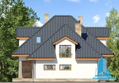 fatada-2 Proiect de casa cu parter, mansarda si garaj pentru un automobil