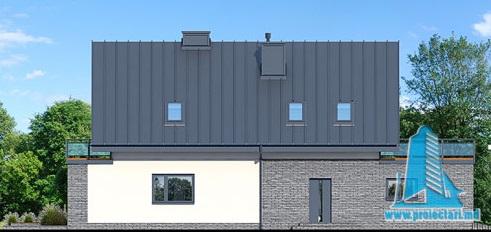 fatada-2 Proiect de casa cu masarda si garaj pentru doua automobile