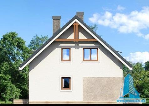 fatada-2 Proiect de casa cu parter, mansarda