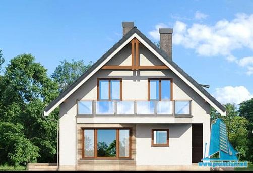 fatada-3 Proiect de casa cu parter, mansarda