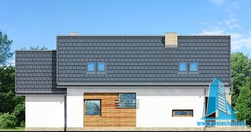 fatada-4 Proiect de casa cu parter, mansarda si garaj pentru un automobil-100626
