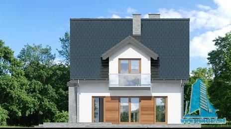 fatada-4 Proiect de casa cu parter, mansarda