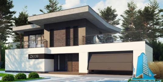 Проект двухэтажного дома и гаражом для двух машин-100783