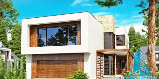 Proiect de casa cu parter, etaj si garaj pentru doua automobile-100817