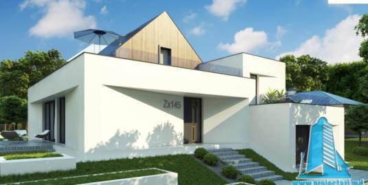 Proiect de casa cu parter, etaj si garaj pentru un automobil-100746