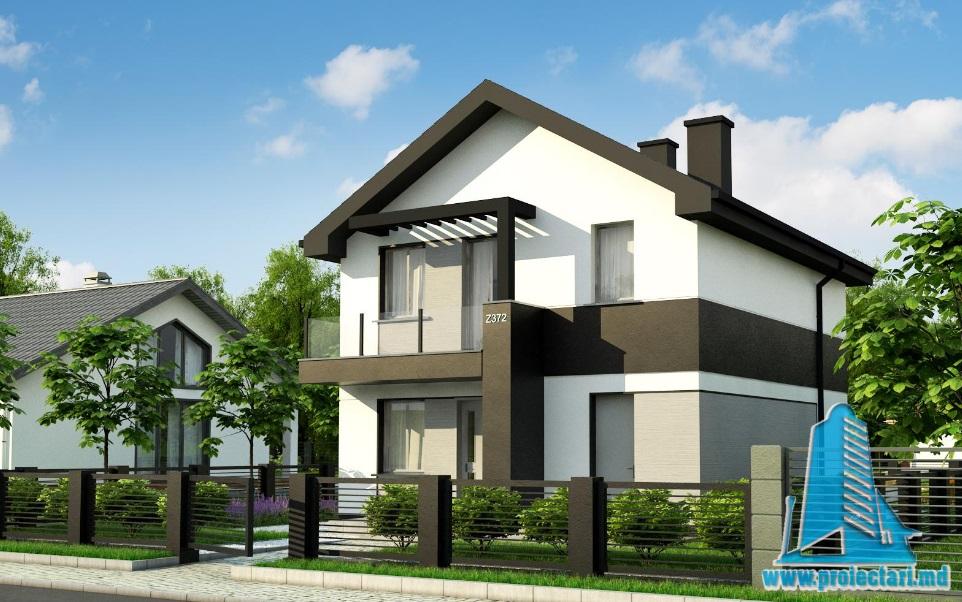 Proiect de casa cu parter si etaj-100741
