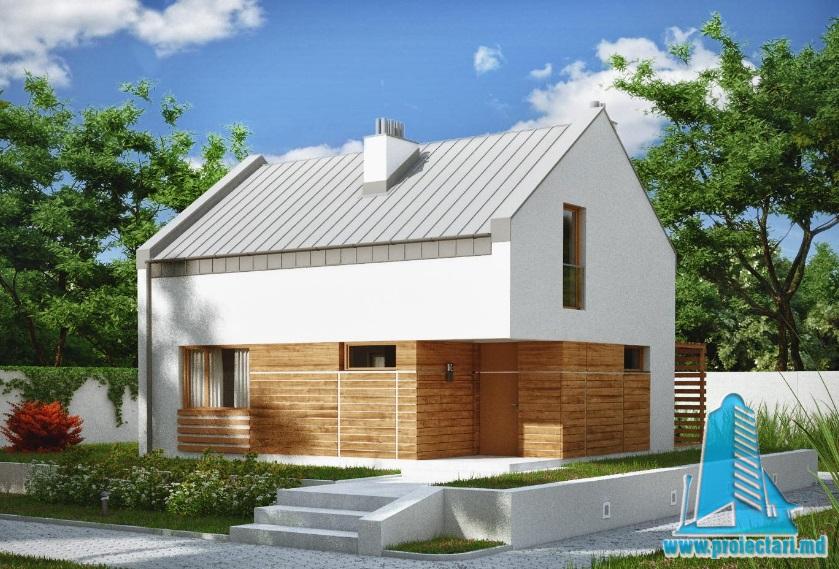 Proiect de casa cu parter si etaj-100766