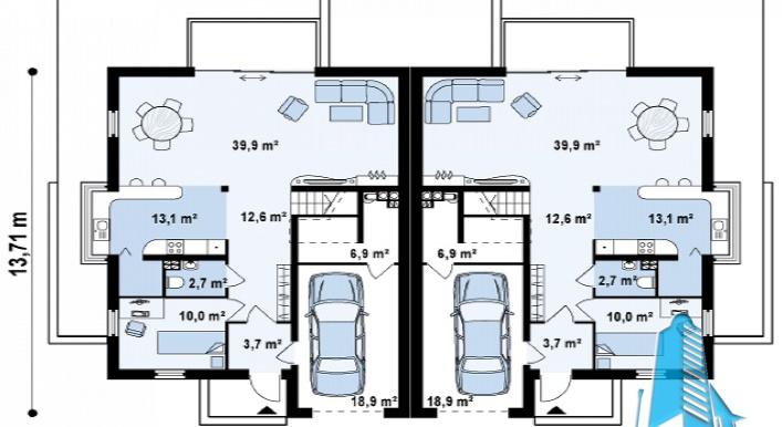 proekt-doma-dupleks-s-parterom-mansardoj-i-garazhom-dlya-dvux-mashin-3