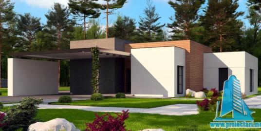Proiect de casa cu parter si garaj pentru doua automobile -100778