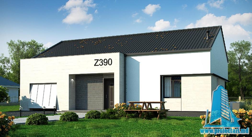 Proiect de casa cu parter si garaj pentru un automobil-100772