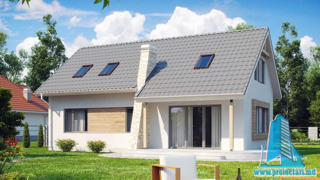 Proiect de casa cu parter si mansarda -100815