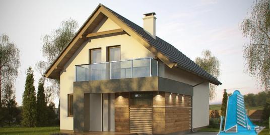 Proiect de casa cu parter si mansarda -100748