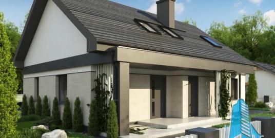 Proiect de casa cu parter si mansarda -100750