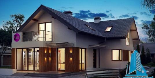 Proiect de casa cu parter si mansarda -100768