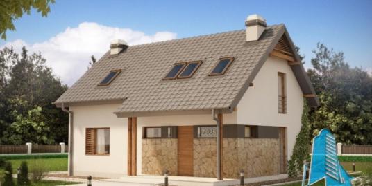 Proiect de casa cu parter si mansarda-100774
