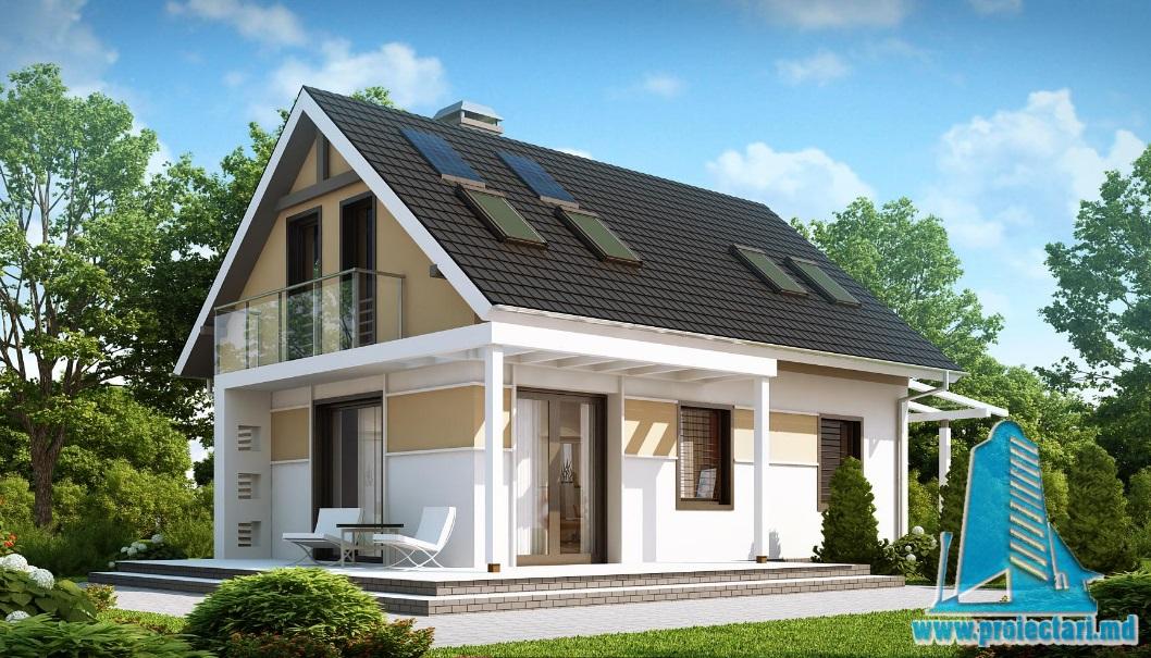 Proiect de casa cu parter si mansarda -100733