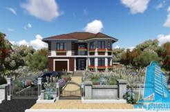 Proiect de casa cu etaj si garaj