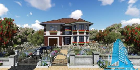 Proiect de casa cu parter si etaj cu garaj pentru un automobil 100732