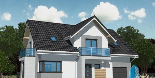 Proiect de casa cu mansarda si garaj pentru un automobil-100785