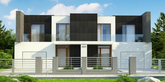 Проект дома дуплекс с гаражом-100723
