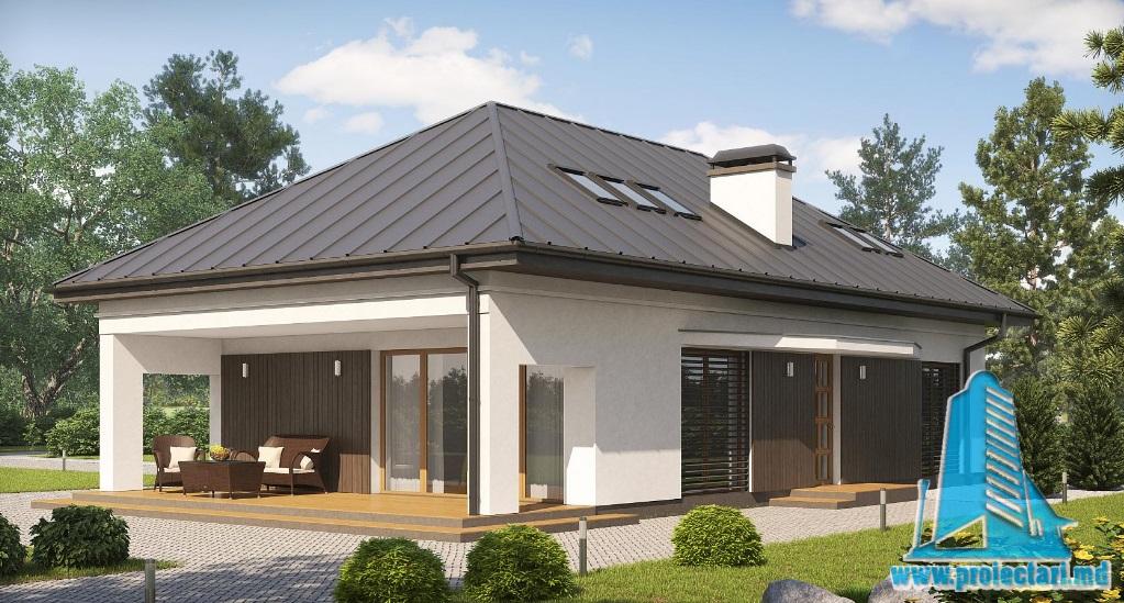 Proiect de casa cu parter si mansarda-100780