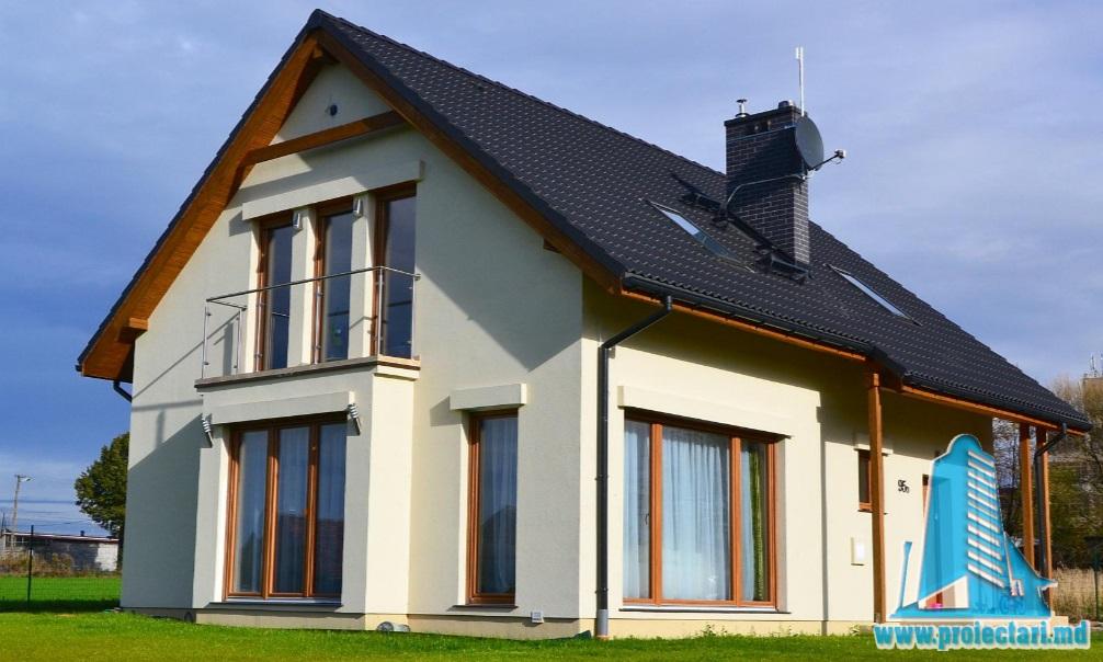 Proiect de casa cu parter si mansarda -100777