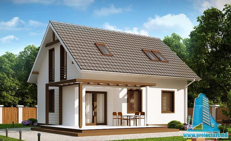 Proiect de casa cu parter si mansarda -100728