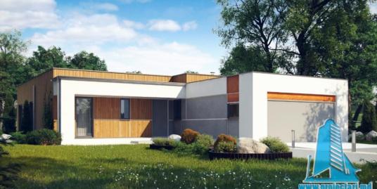 Proiect de casa cu parter si garaj pentru doua automobile -100763