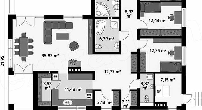proiect-de-casa-cu-parter-si-garaj-plan-parter