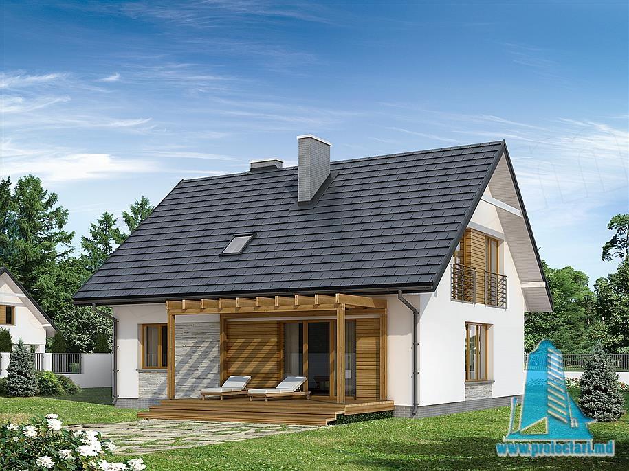 Proiect de casa cu parter si mansarda-100795