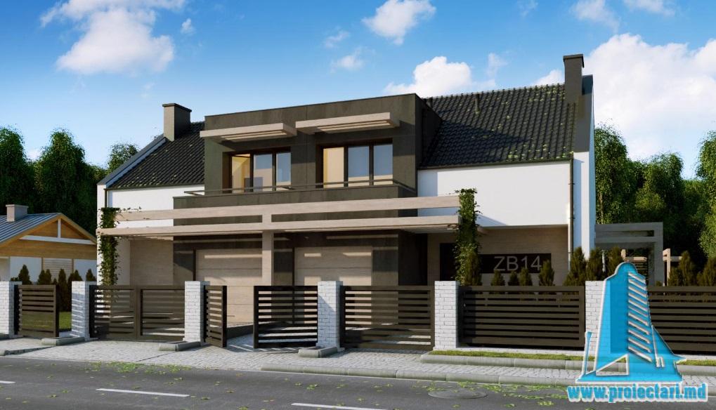 3proiect casa moderna 74 mp cu tot cu garaj trendy