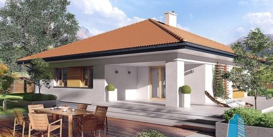Proiect de casa cu parter si garaj pentru doua masini-100804