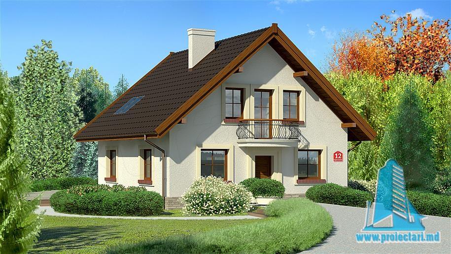 Proiect de casa cu parter si mansarda-100801