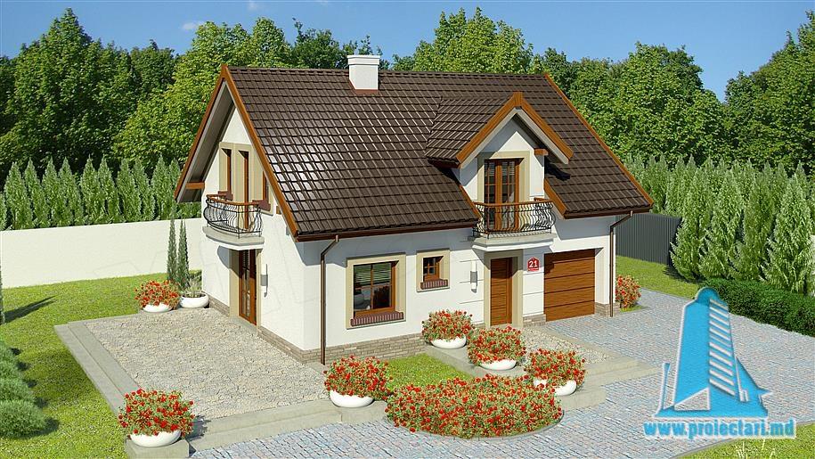 Proiect de casa cu parter si mansarda-100797