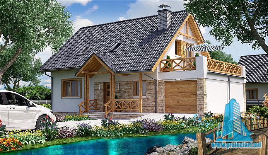Proiect de casa cu parter si mansarda-100798