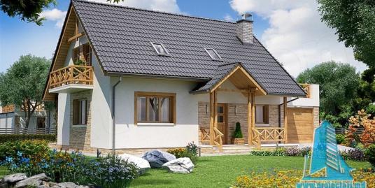 Proiect de casa cu parter si mansarda-100799