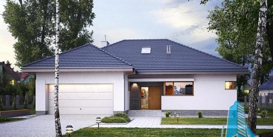 Proiect de casa cu parter si mansarda-100786