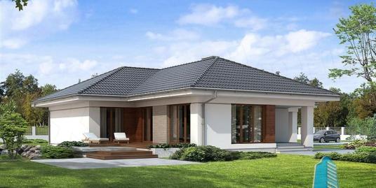 Proiect de casa cu parter si garaj pentru doua automobile -100800