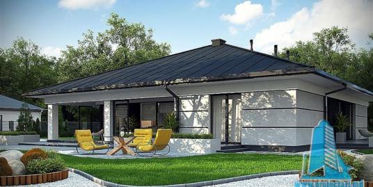 Proiect de casa cu parter si garaj pentru doua automobile – 100803
