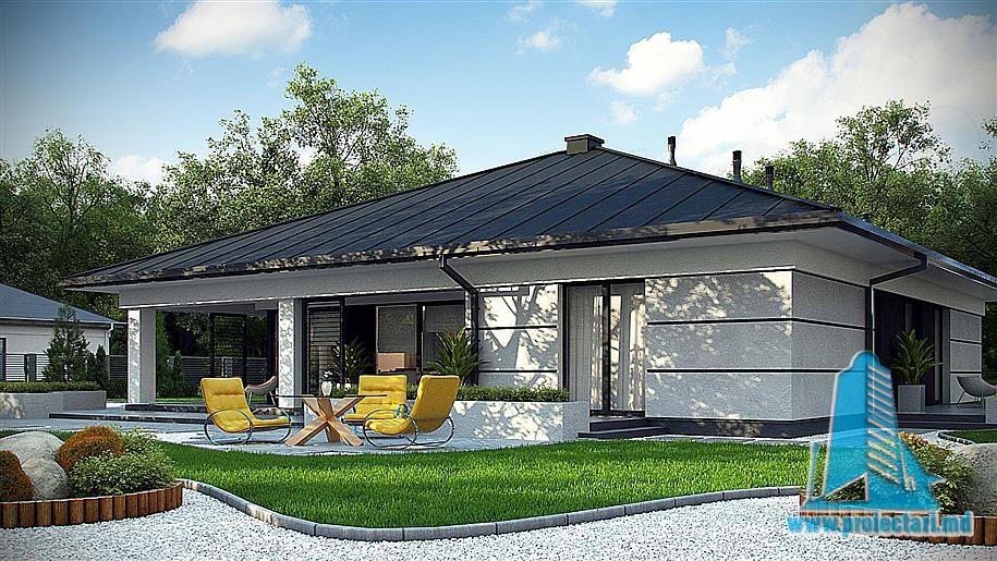 Проект дома с партером и гаражом – 100803
